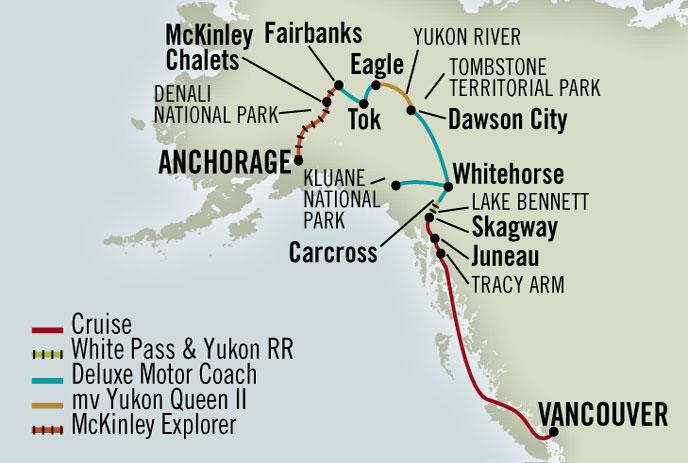 Alaska CruiseTours + $99 Airfares!