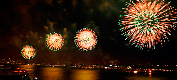 July 4th Fireworks on the Hudson with Mandarin Oriental