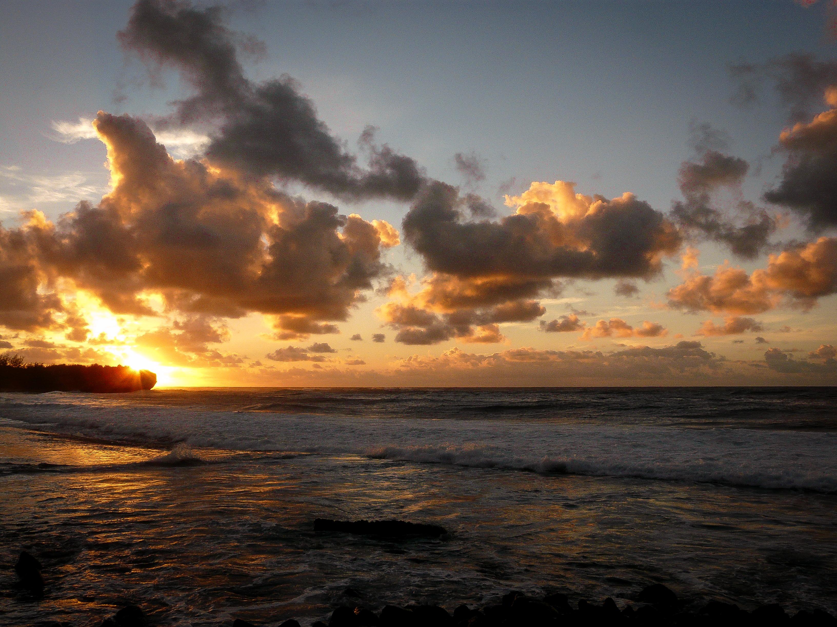 Sunrise over Shipwreck Beach, on Kauai
