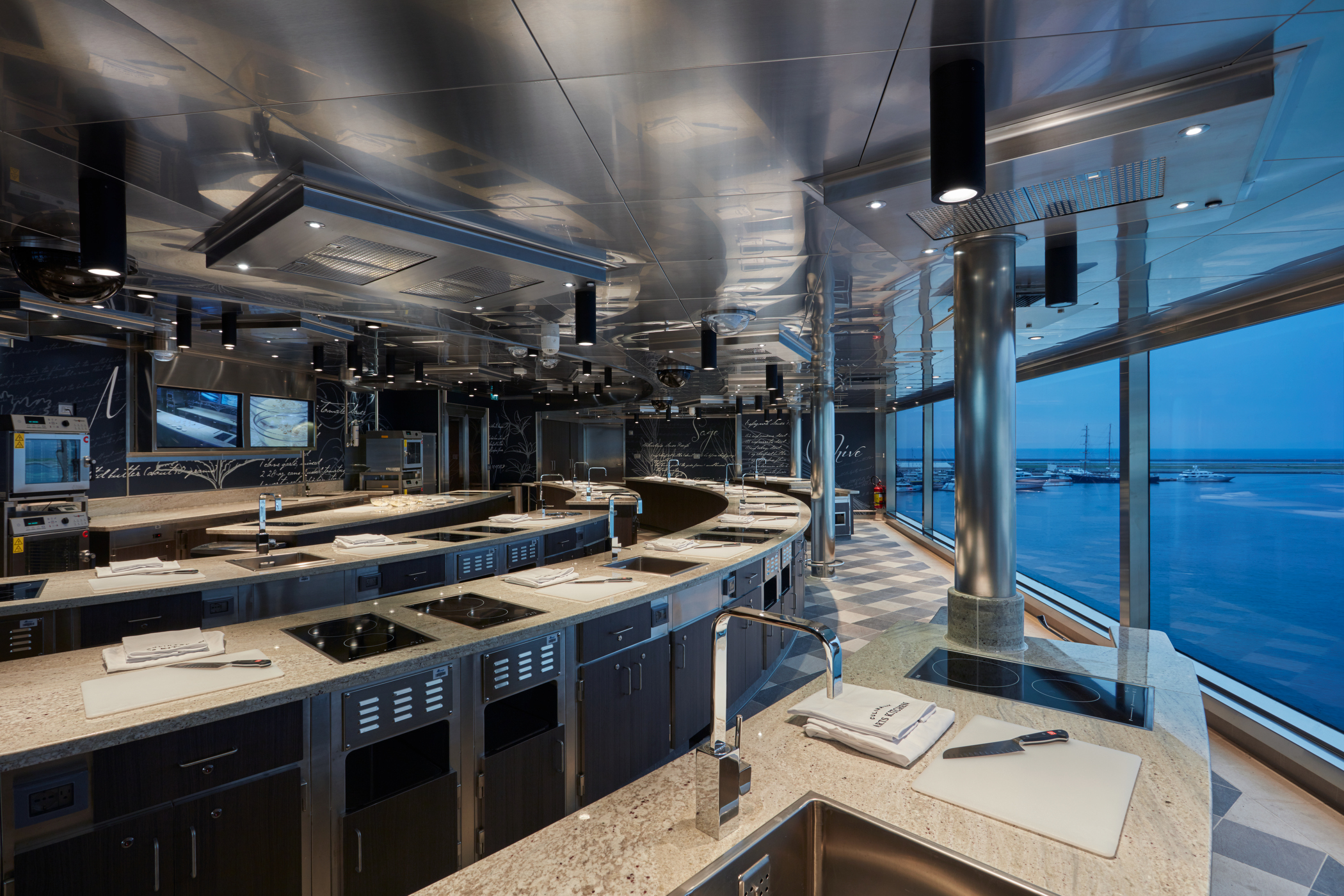 Regent\'s New Culinary Arts Kitchen is a Cooking School at Sea ...