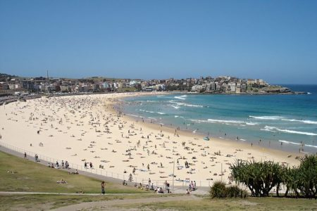 Sun, Sand, and Surf at Sydney's Bondi Beach