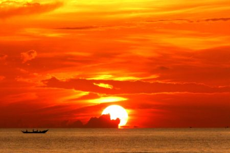 A Stunning Sunrise over the East Sea in Lang Co Vietnam