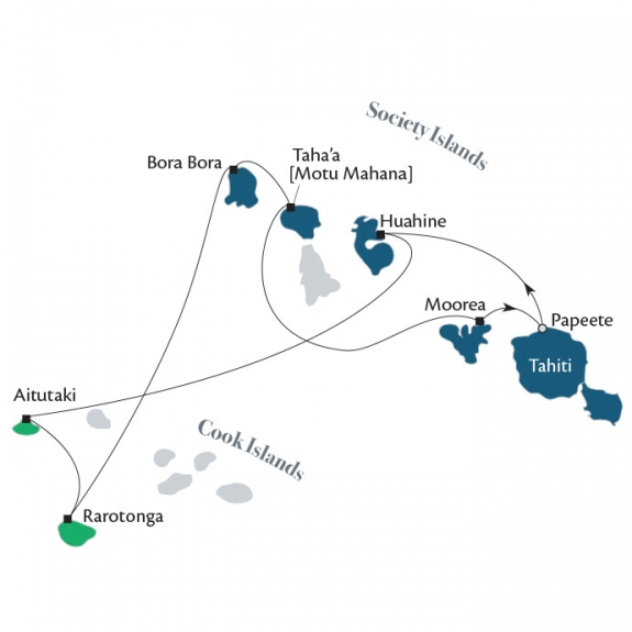 Cook Islands & Society Islands 11–night Cruise with Paul Gauguin