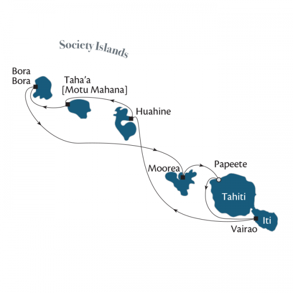 Society Islands & Tahiti Iti 7–night Cruise with Paul Gauguin